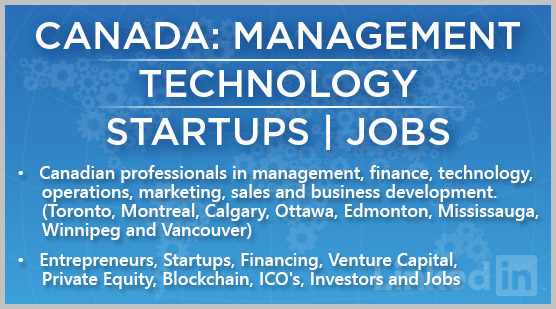 Canada: Management | Technology | Startups | Jobs