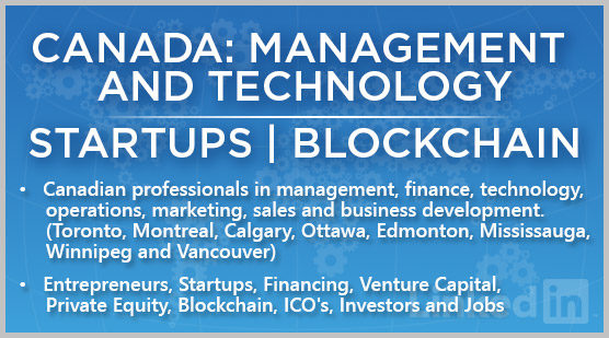 Canada: Management and Technology | Startups | Blockchain