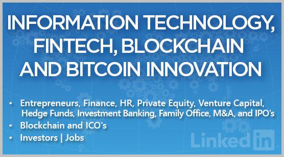 Information Technology, FinTech, Blockchain and Bitcoin Innovation