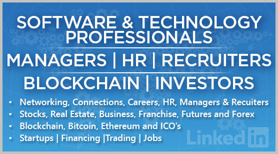 Software & Technology Professionals: Managers | HR | Recruiters | Blockchain | Investors