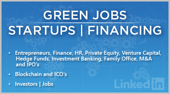 Green Jobs | Startups | Financing