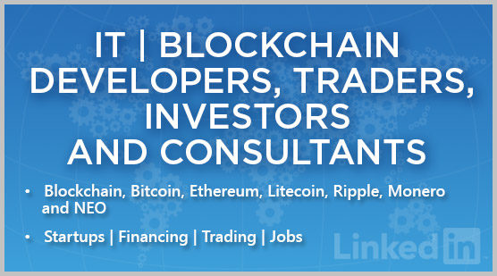 IT | Blockchain Developers, Traders, Investors and Consultants